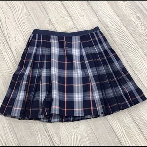 UO Silence + Noise plaid pleated skirt